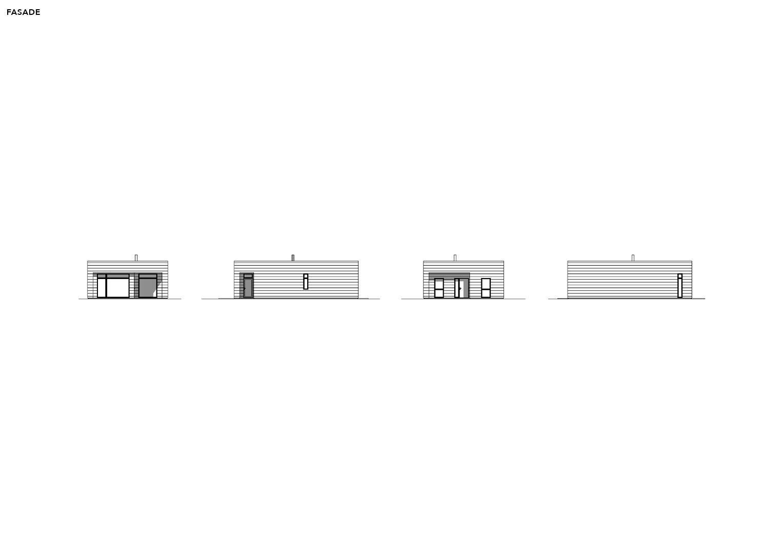 Illustrasjon: Hus 19 fasade tegning