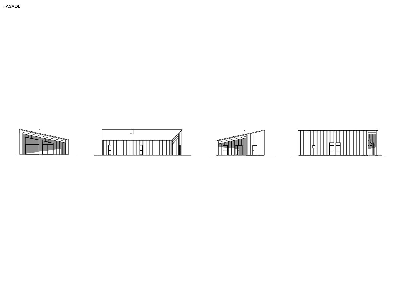 Illustrasjon: Hytte 20 fasade tegning