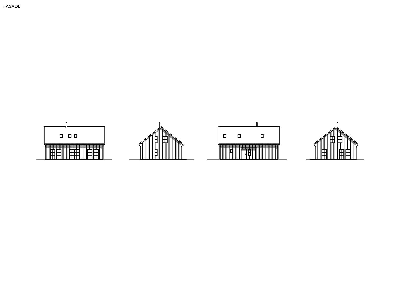 Illustrasjon: Hytte 22 fasade tening