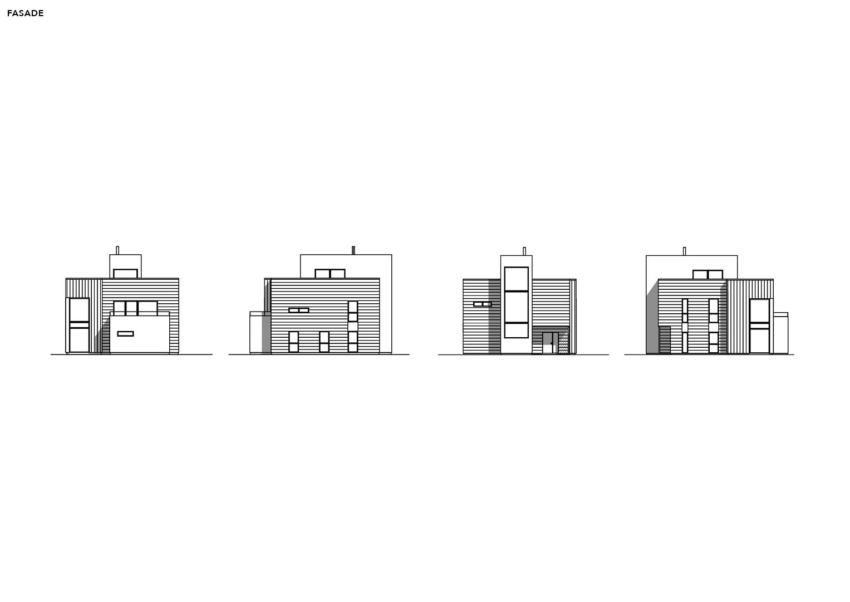Illustrasjon: Hus 05 fasade tegning