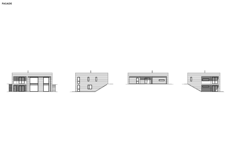 Illustrasjon: Hus 08 fasade tegning
