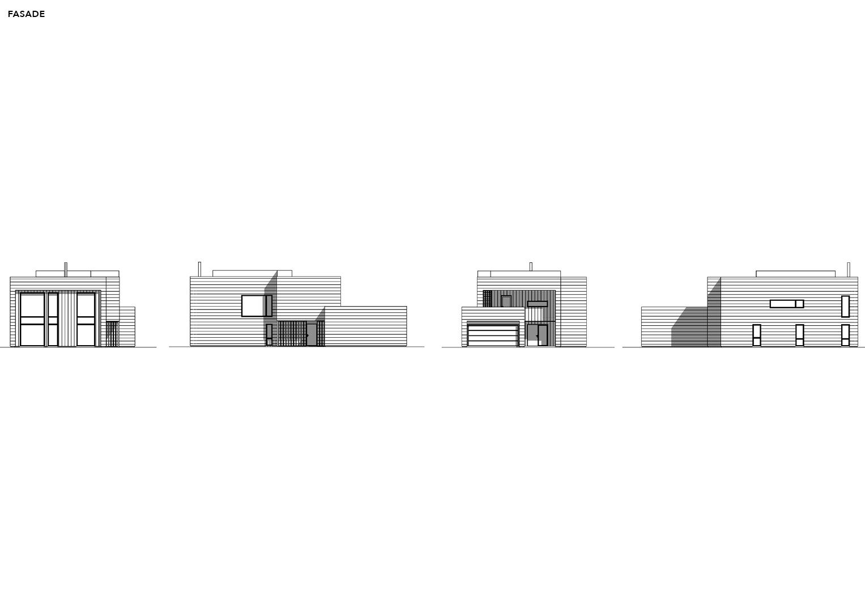 Illustrasjon: Hus 09 fasade tegning