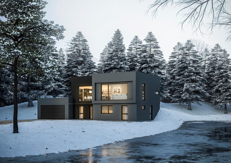 Illustrasjon: Hus 10 fasade