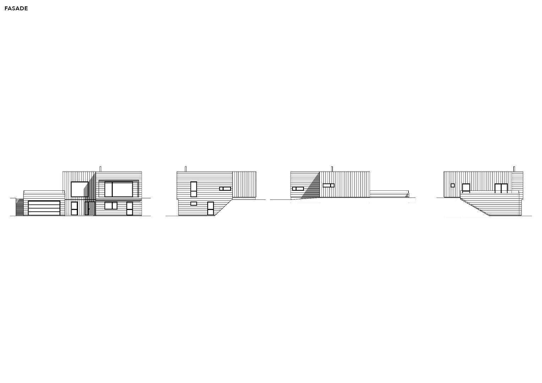 Illustrasjon: Hus 10 fasade tegning