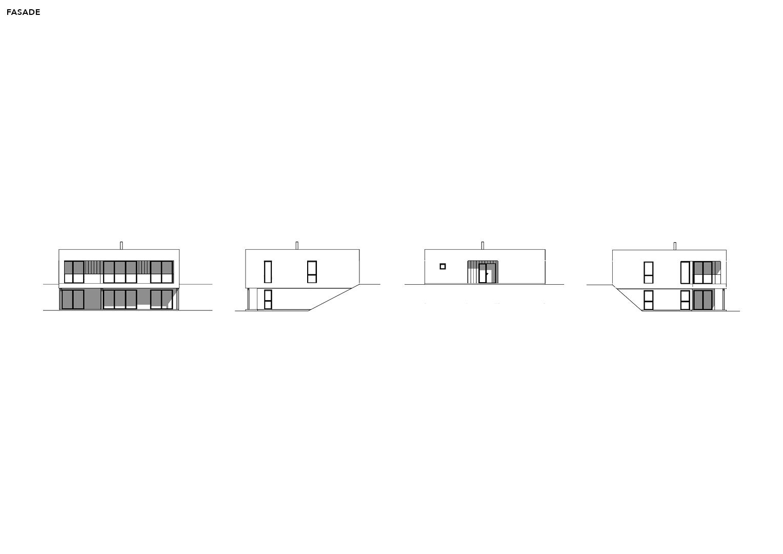 Illustrasjon: Hus 11 fasade tegning