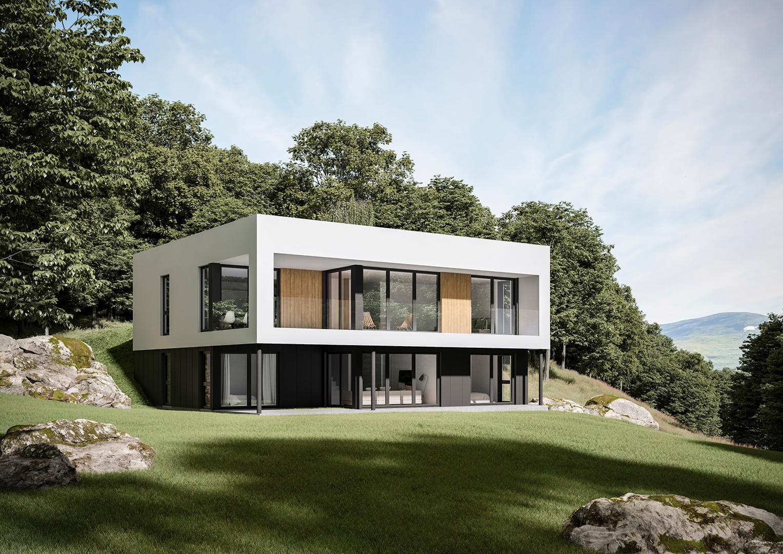 Illustrasjon: Hus 11 fasade