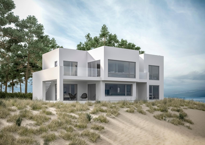 Illustrasjon: Hus 15 fasade