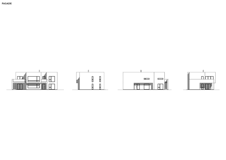 Illustrasjon: Hus 15 fasade tegning