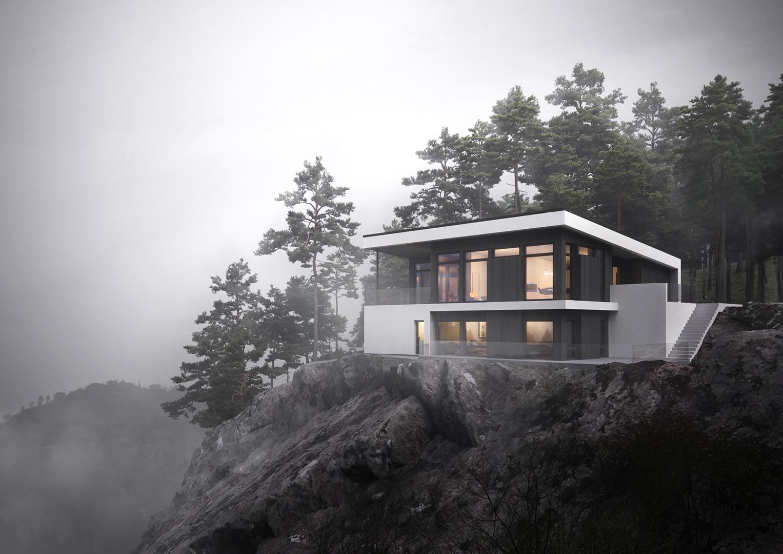 Illustrasjon: Hus 13 fasade