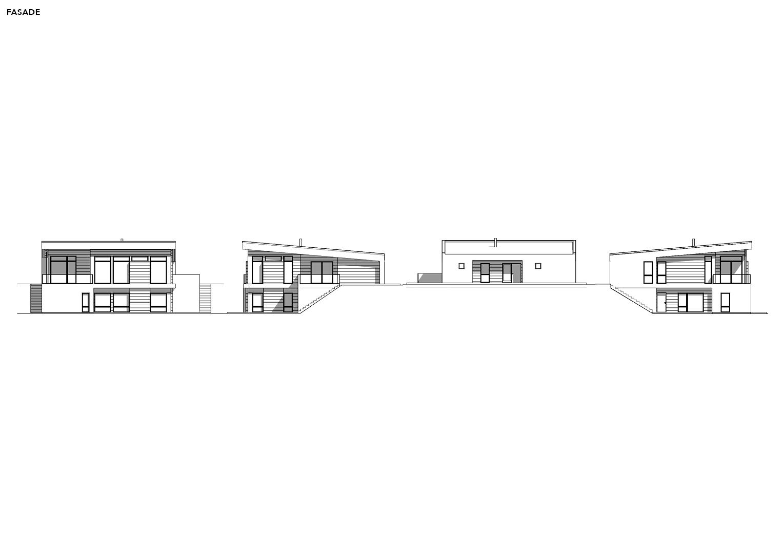 Illustrasjon: Hus 13 fasade tegning
