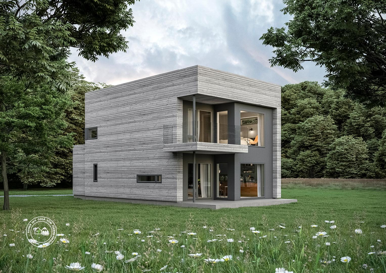 Illustrasjon: Hus 16 fasade