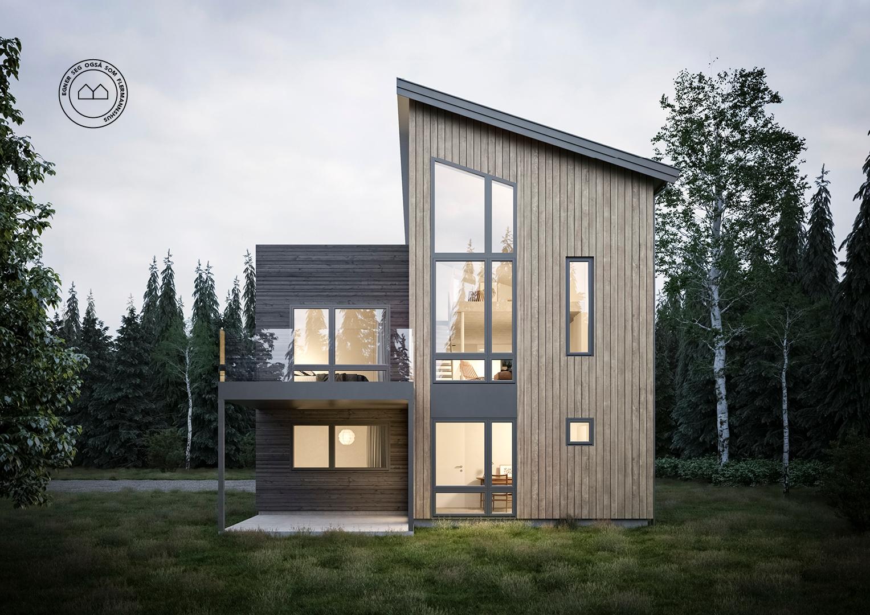 Illustrasjon: Hus 17 fasade