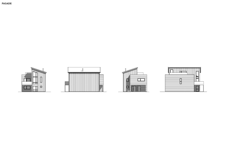 Illustrasjon: Hus 17 fasade tegning