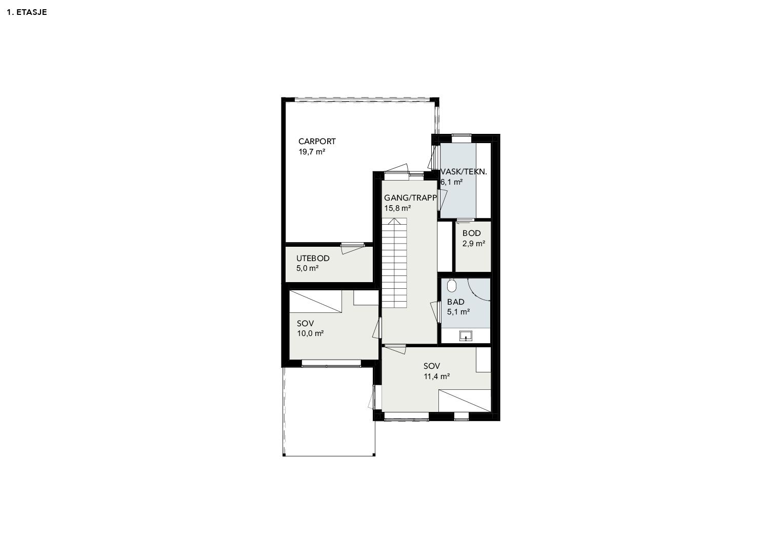 Illustrasjon: Hus 17 plantegning