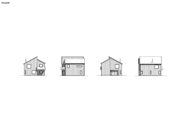 Illustrasjon: Hus 18 fasade tegning