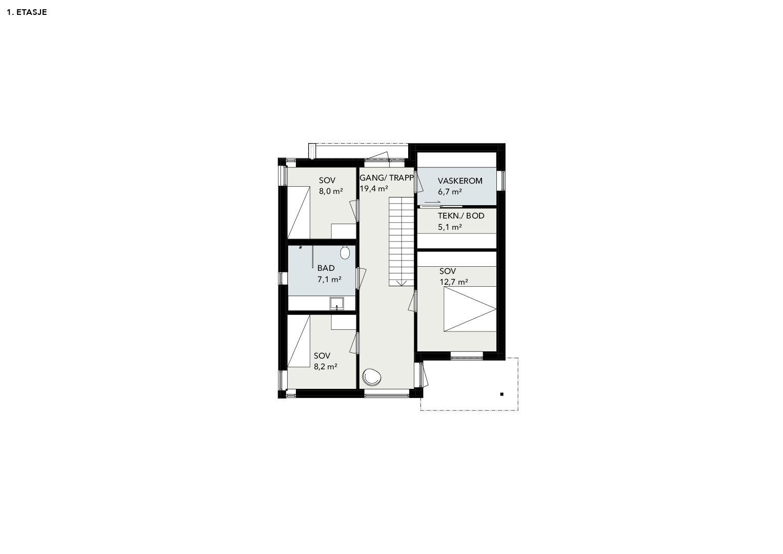 Illustrasjon: Hus 18 plantegning