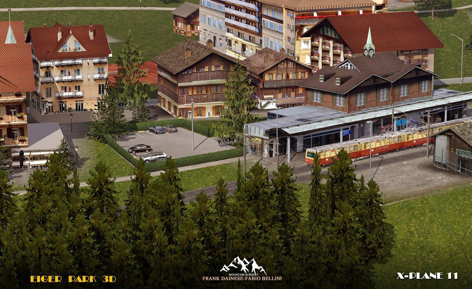 x-plane] Frank Dainese/Fabio Bellini Eiger Park 3D Release