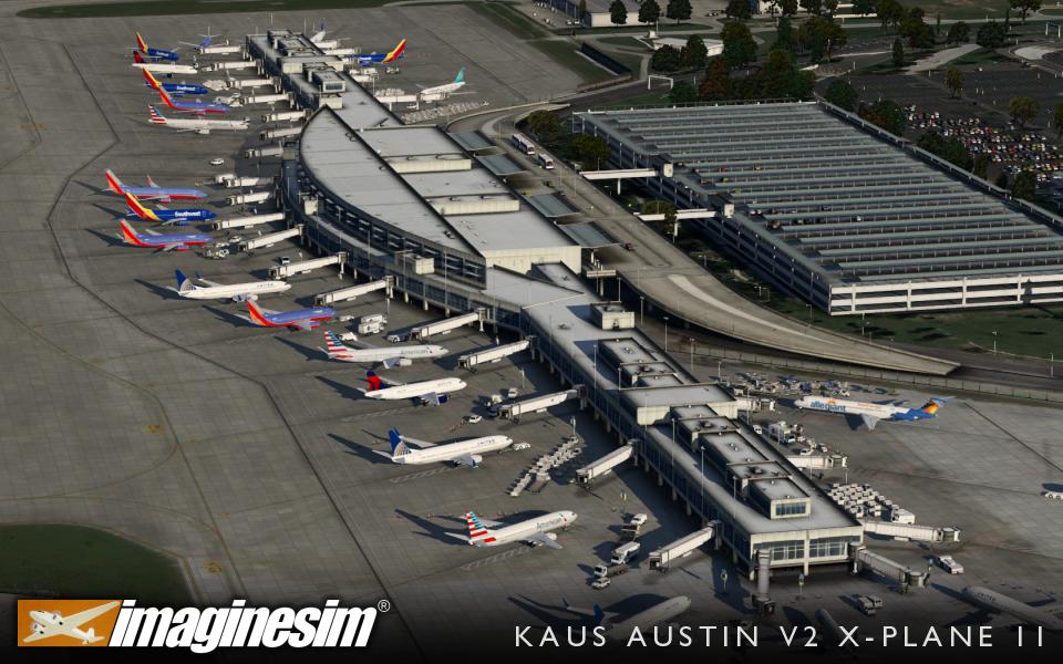 Version 2 of Imaginesim's Austin (KAUS) Released   Threshold