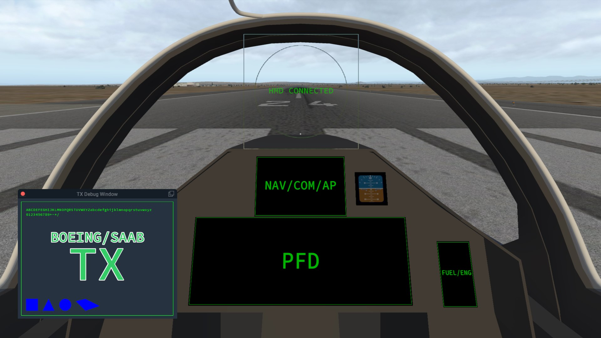 More Previews of AOA Simulations' Boeing/Saab T-X | Threshold
