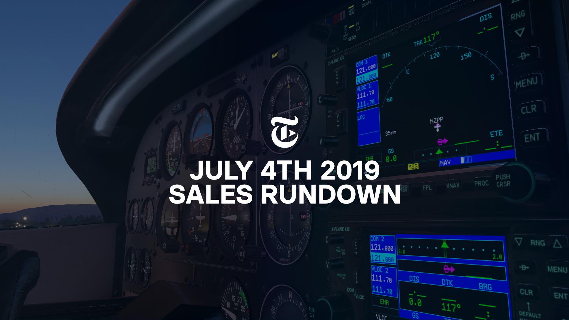 Community: X-Plane Sales Rundown - July 4th, 2019 | Threshold