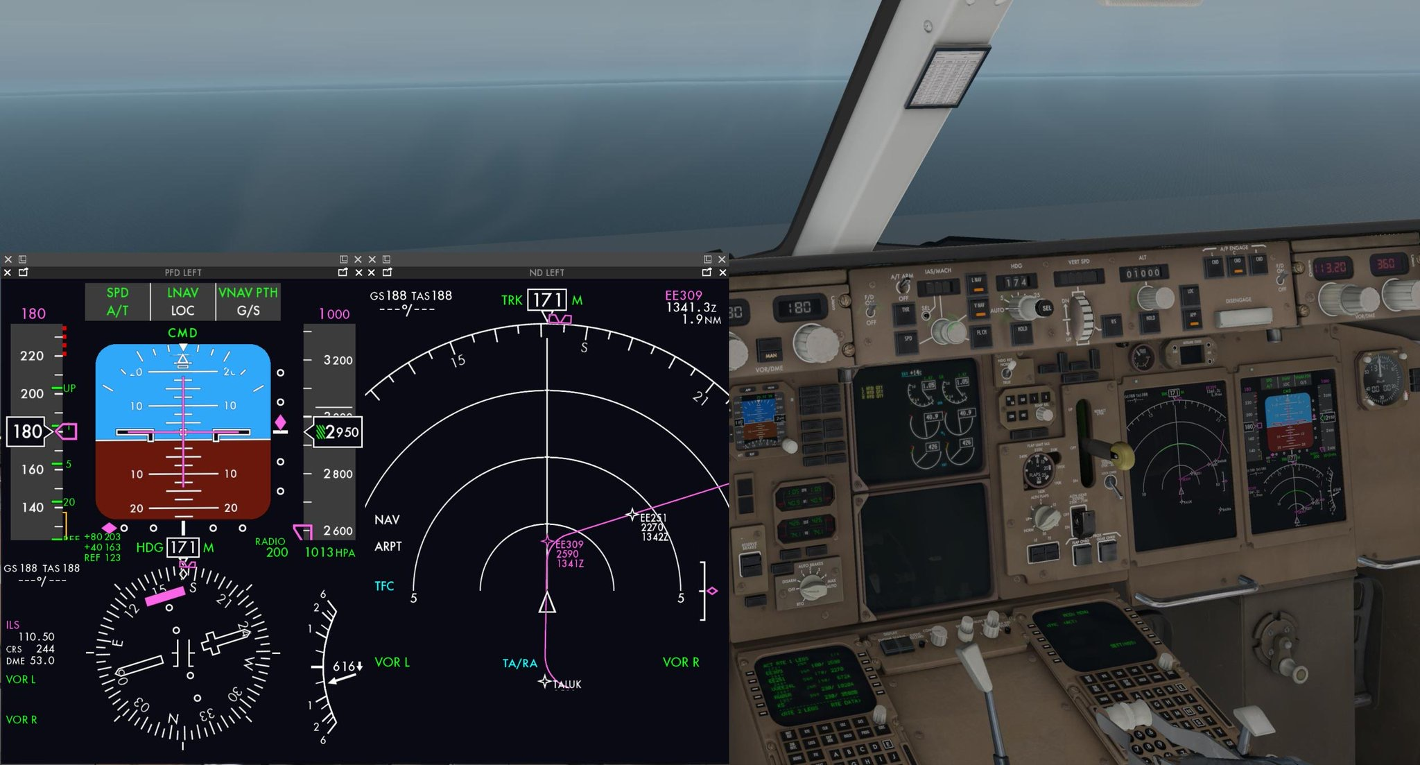 Flight Factor Previews Flat Panel Display System in Action