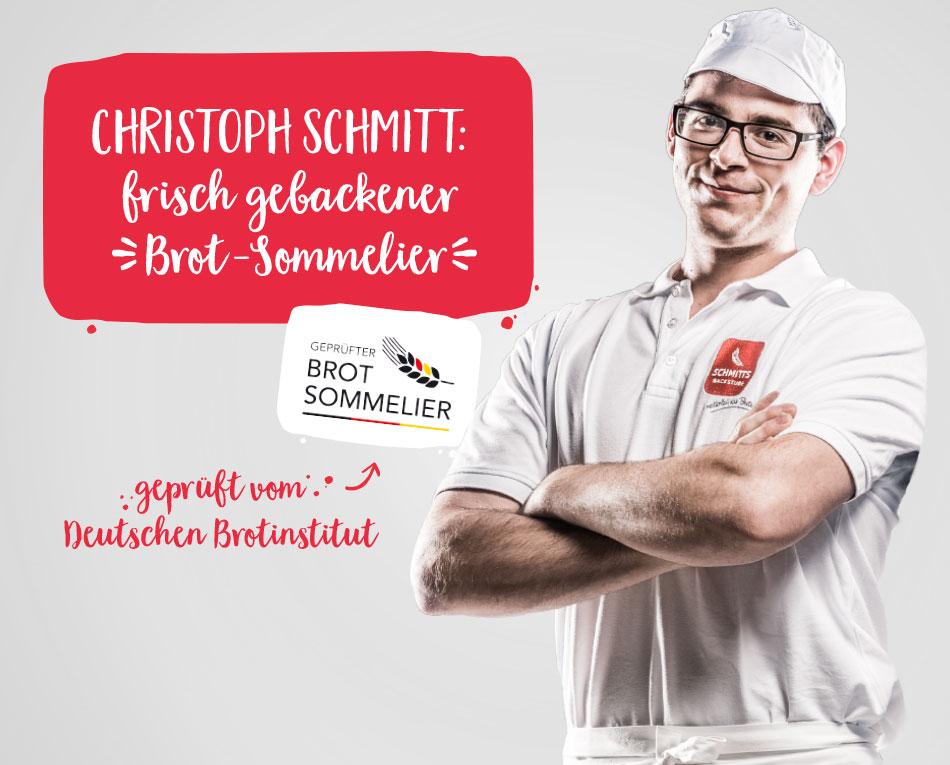 Frisch gebackener Brot-Sommelier, Christoph Schmitt