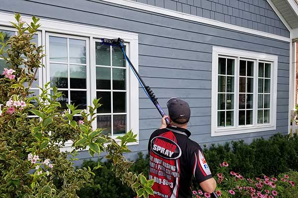 window cleaning a home in windsor