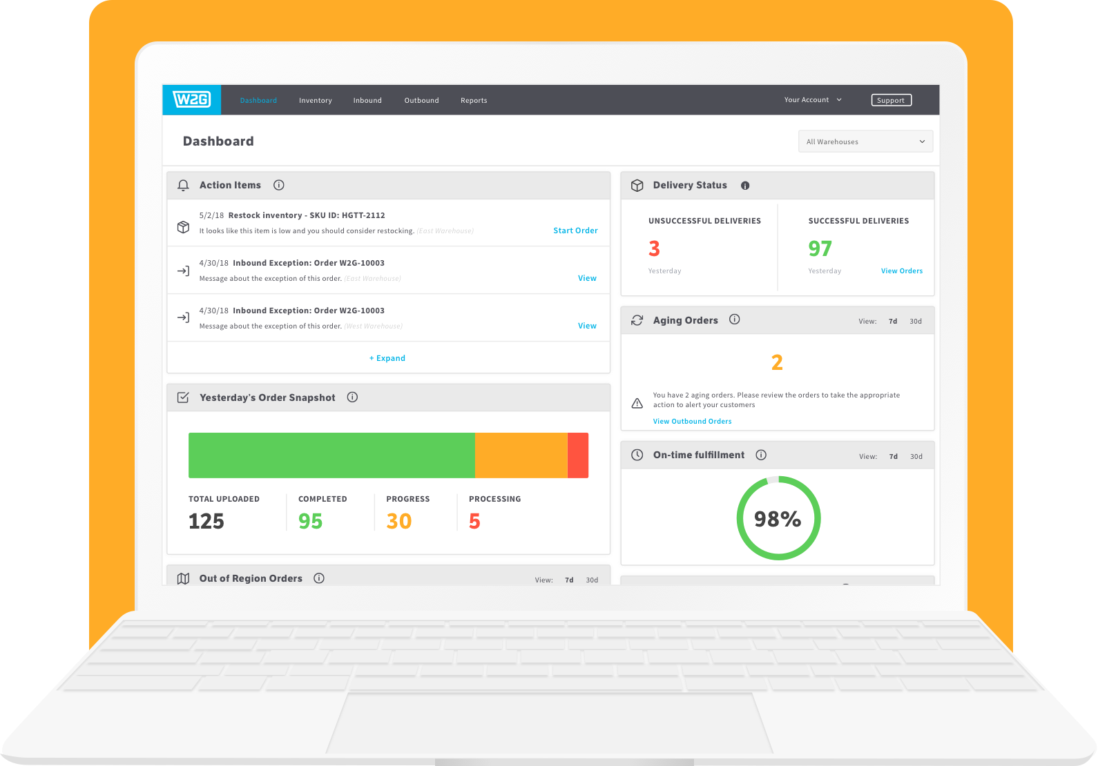 Warehouse Management System Dashboard