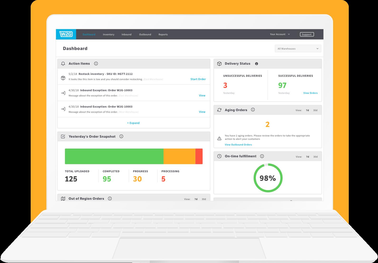 Warehouse Management System Dashboard