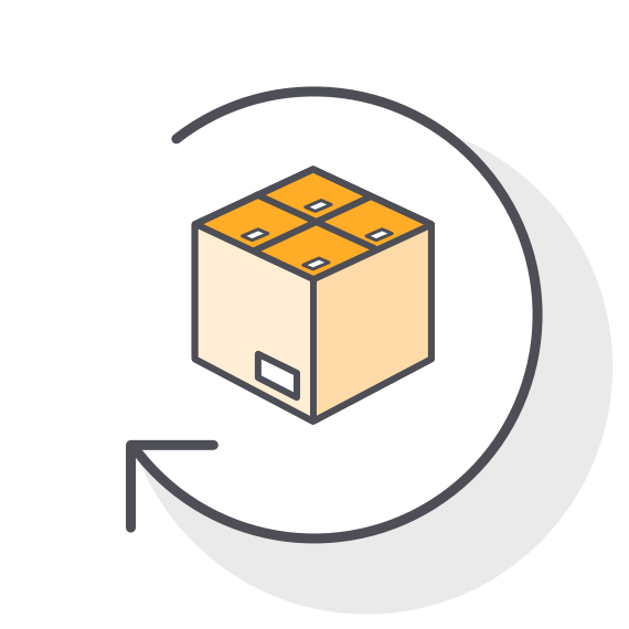 Shipping Returns & Customer Delivery Icon