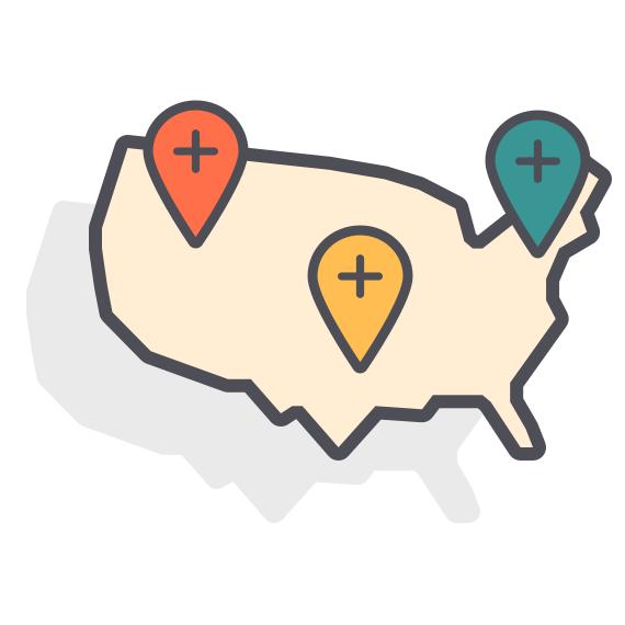Nationwide Warehousing & Fulfillment Network Depiction