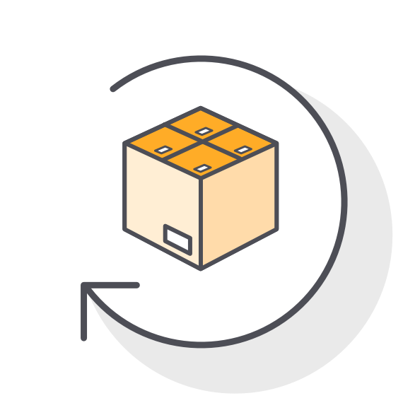E-Commerce Shipping Delivery & Returns Icon