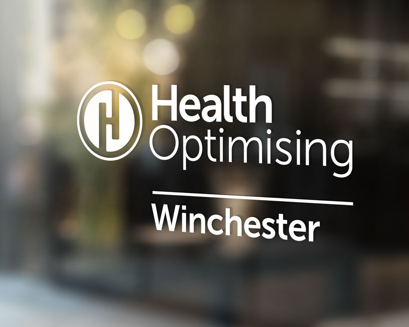 Health Optimising Winchester window sign