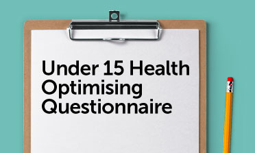 Under 15 questionnaire form mockup