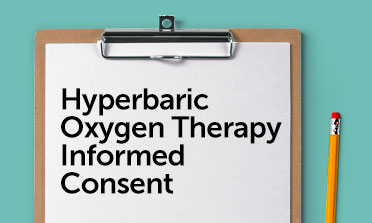 Hyperbaric oxygen therapy consent form mockup