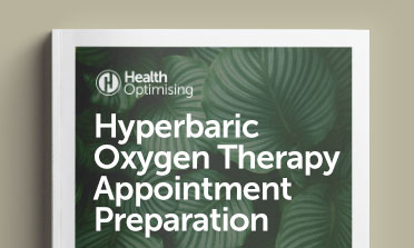 Hyperbaric oxygen therapy preparation mockup