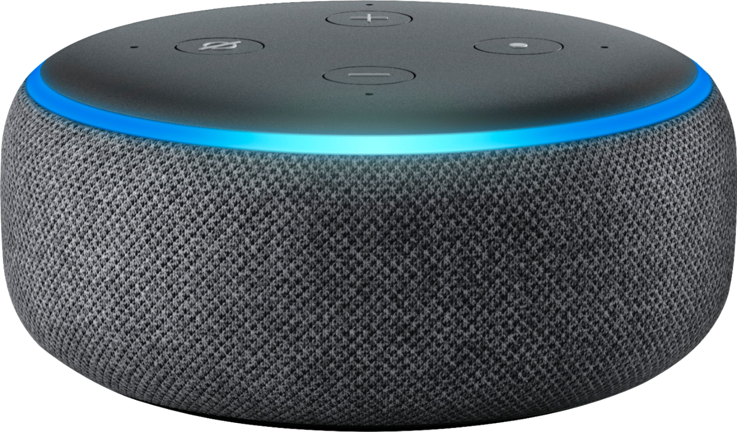 A picture of an Amazon Echo Dot