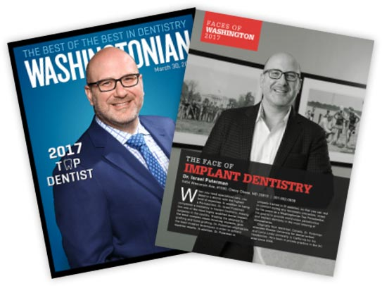 Washingtonian magazine cover and page highlighting Dr. Puterman