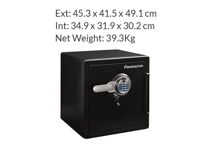 SentrySafe - SFW123BSC - Biometric fire & water proof Safe