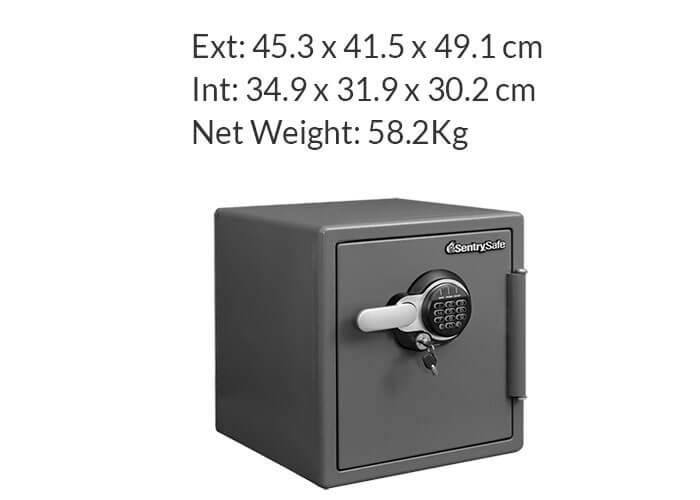 SentrySafe - STW123GDC - Digital fire & water proof Safe