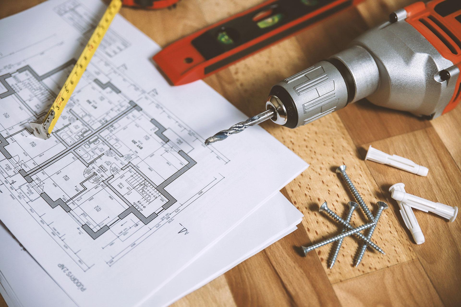 plany projektowe wiertarka