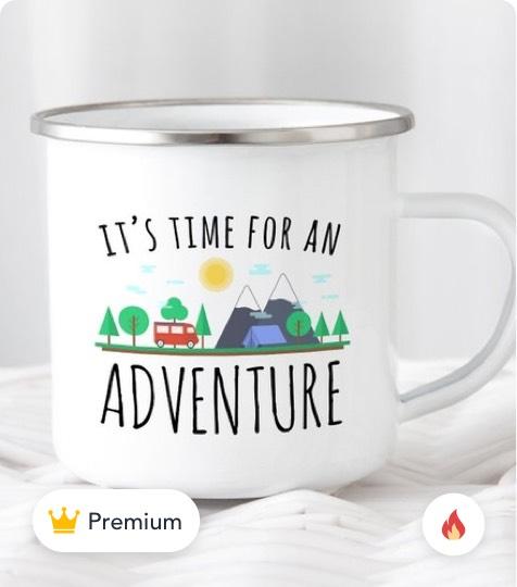 Wanderlust Camping Mug product