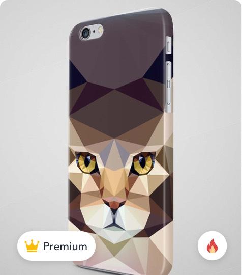 Geometric Cat iPhone X Case product