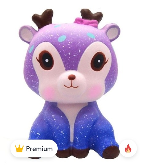 Galaxy Deer Cream Scented Squishy Slow product