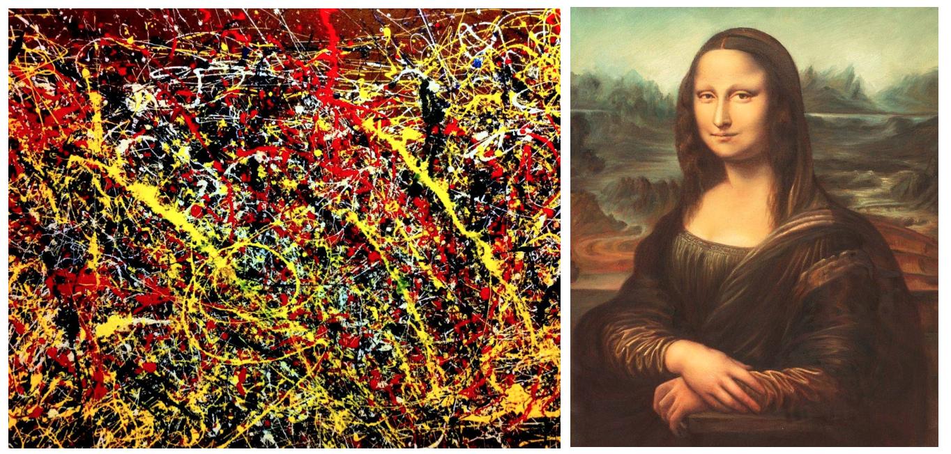 Jackson Pollok; Leonardo da Vinci