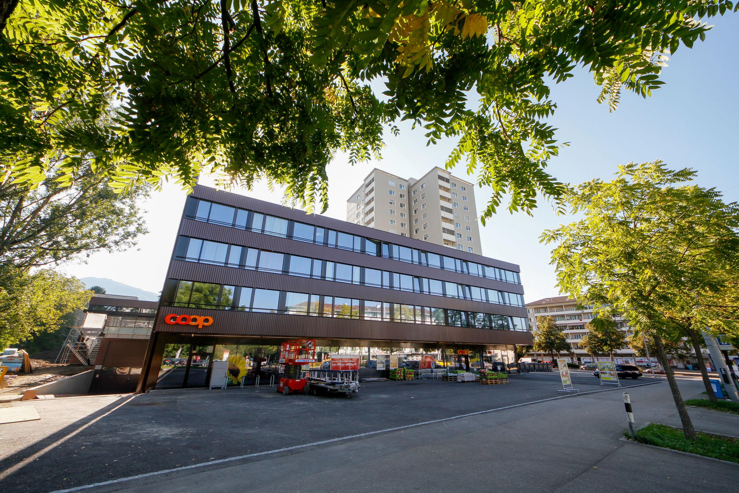 Hochhaus Gutstrasse + Neubau Wohnhaus mit Coop