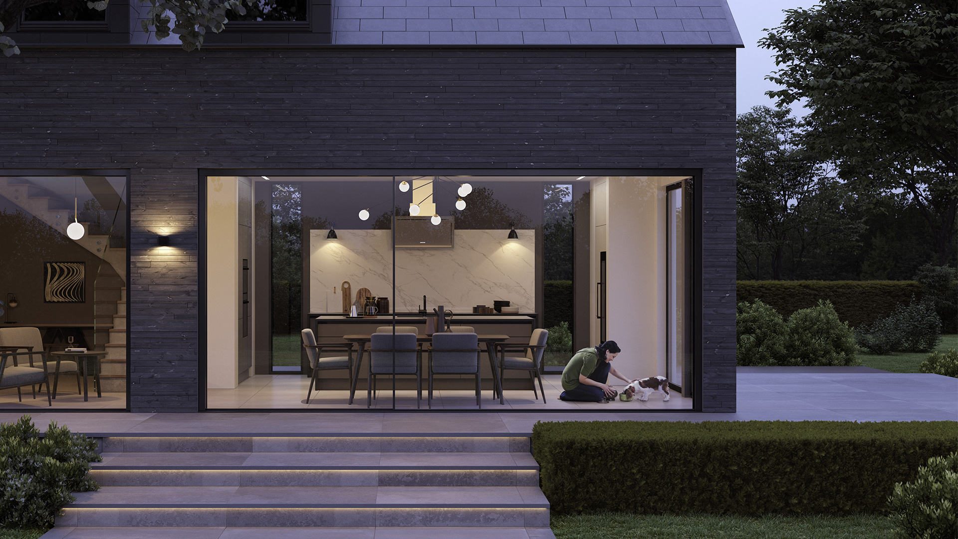 External view of property with uform kitchen