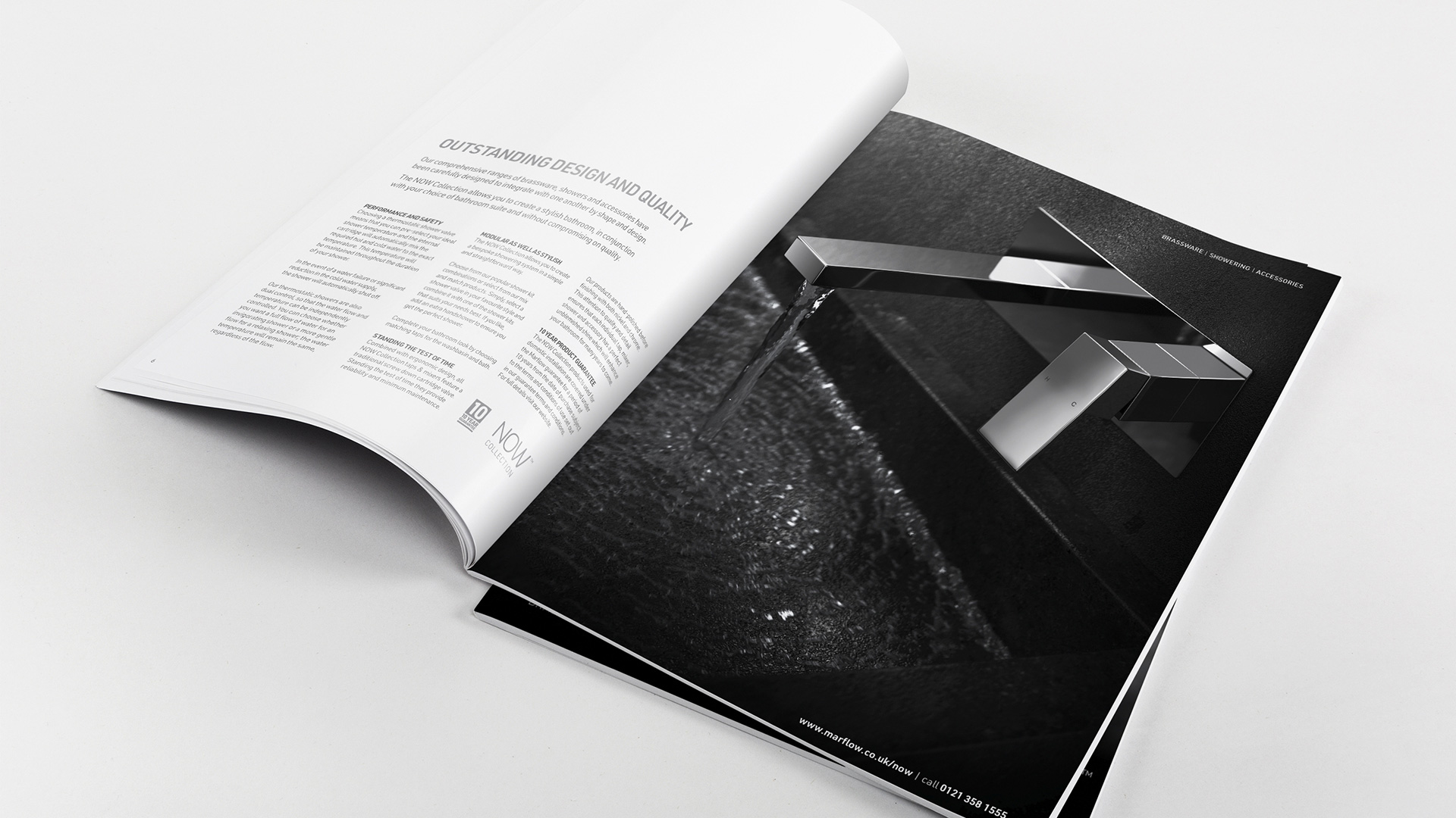 image of inside spread from NOW Collection brochure