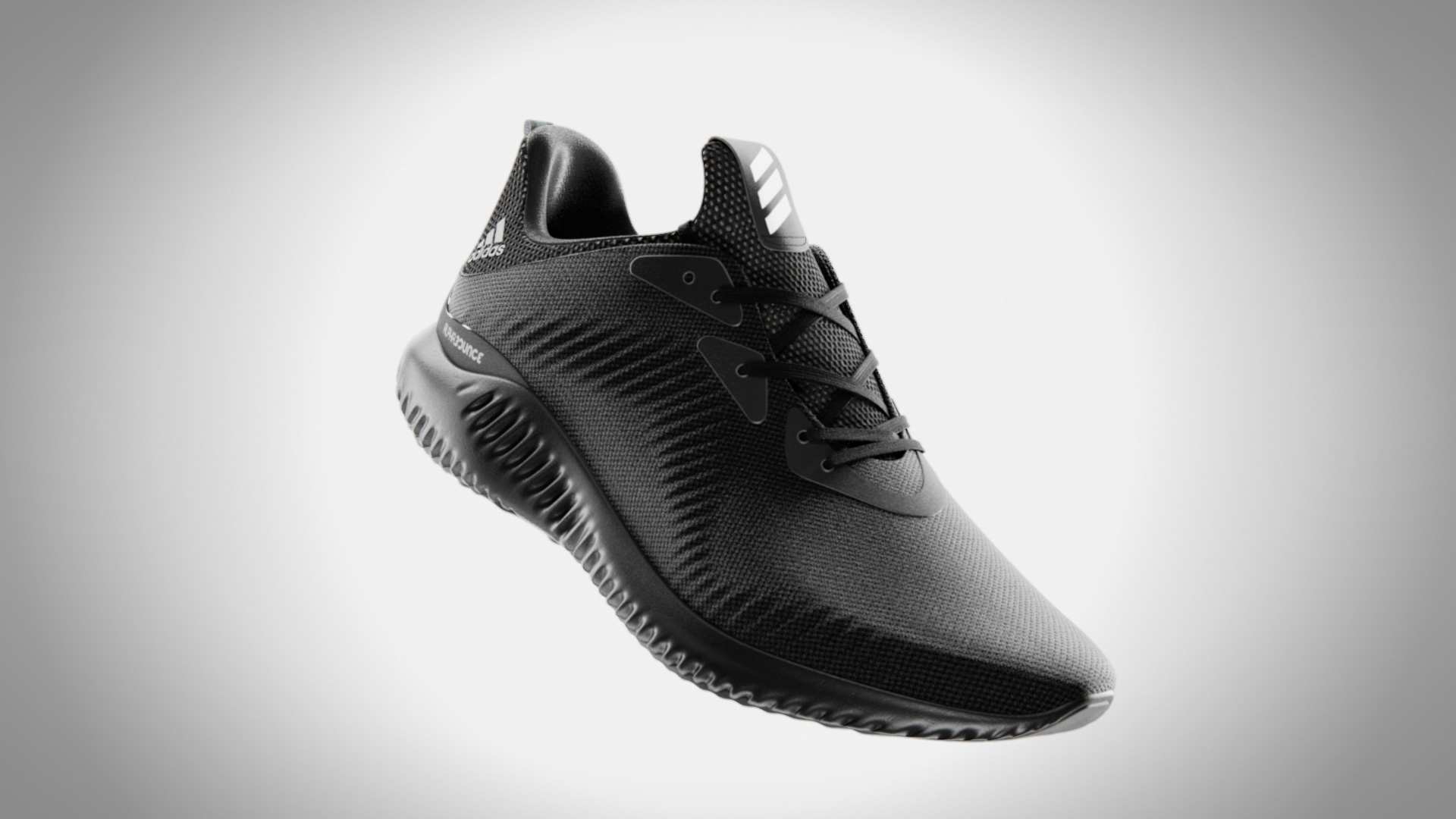 image of black adidas alphabounce shoe
