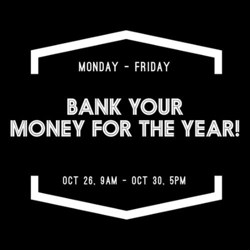 Bank Your Money for the Year!